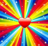 сердце на декоративный фон — Cтоковый вектор