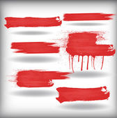 Red Vector Strokes — Stock Vector