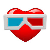 Heart with Sunglasses — Stok Vektör