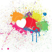 Colorful Heart Splash Background — Stock Vector