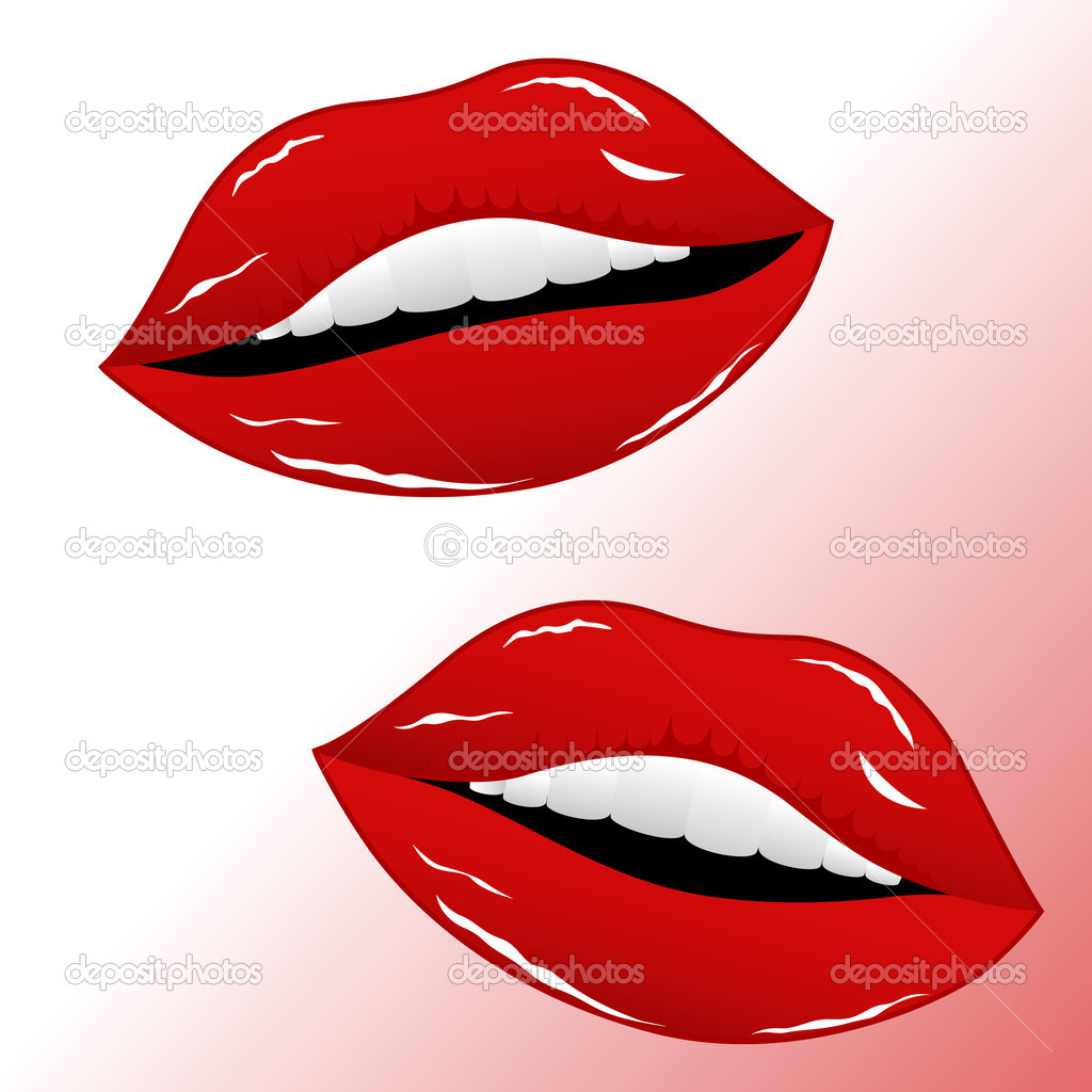 Creative Conceptual Decorative Design of Sexy Red Lips — Stock Vector #8427313