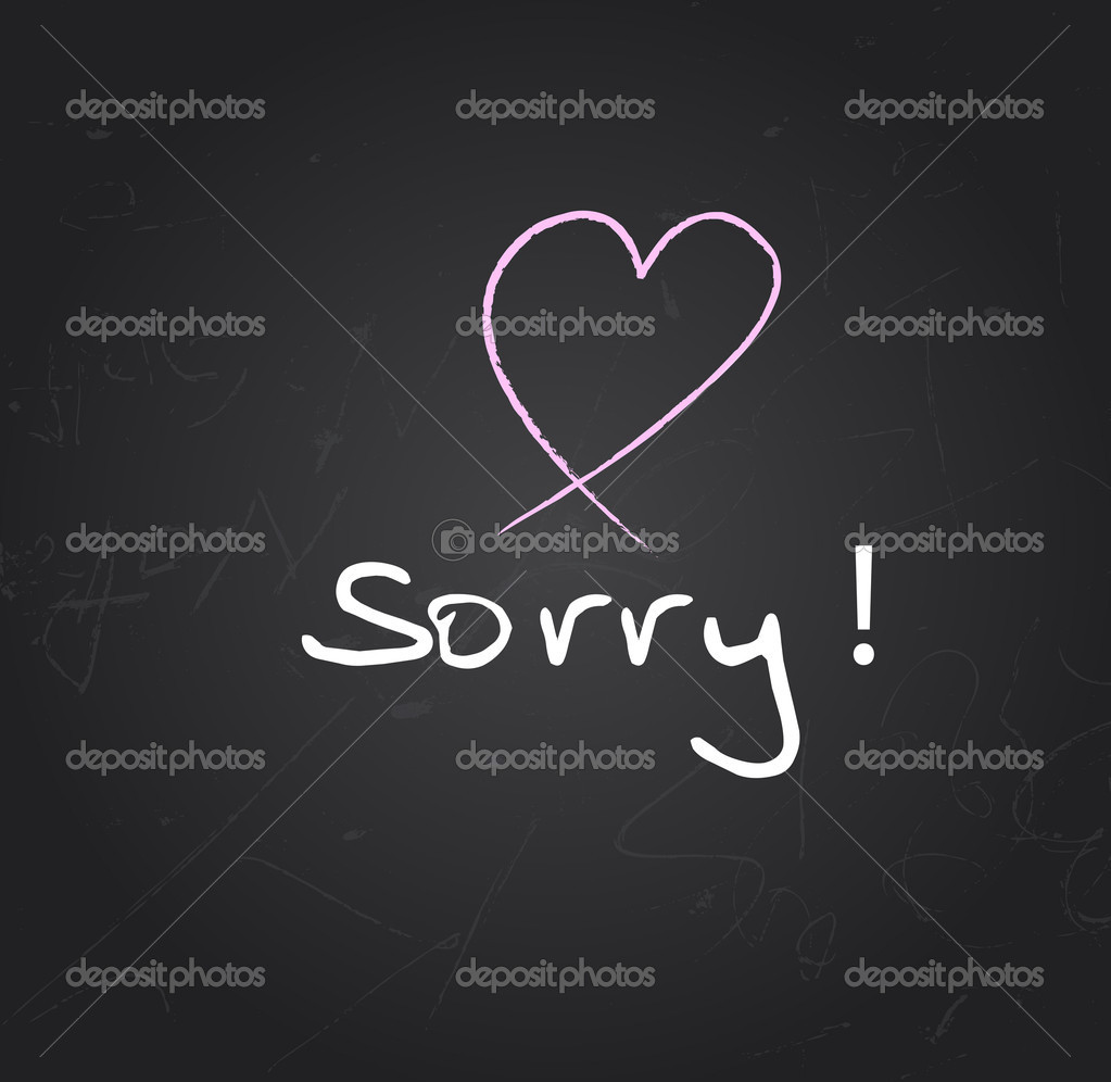Creative Abstract Conceptual Design of Sorry Heart — Stock Vector #8427599