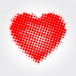 Dotted Heart — Stock Vector