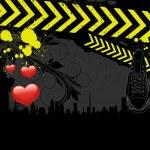Urban Art Valentine Background — Stock Vector