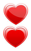 Pair of Valentine Hearts — Stock Vector