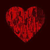 Corazón de vector grunge — Vector de stock