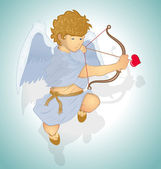 Young Cupid Vector — Stock Vector