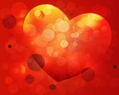 Fondo de corazón brillante — Vector de stock