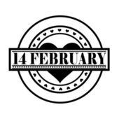 14 February Valentine Stamp — Stock Vector