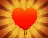 Splash Heart — Stock Vector