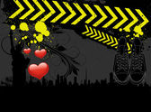 Urban Art Valentine Background — Vecteur