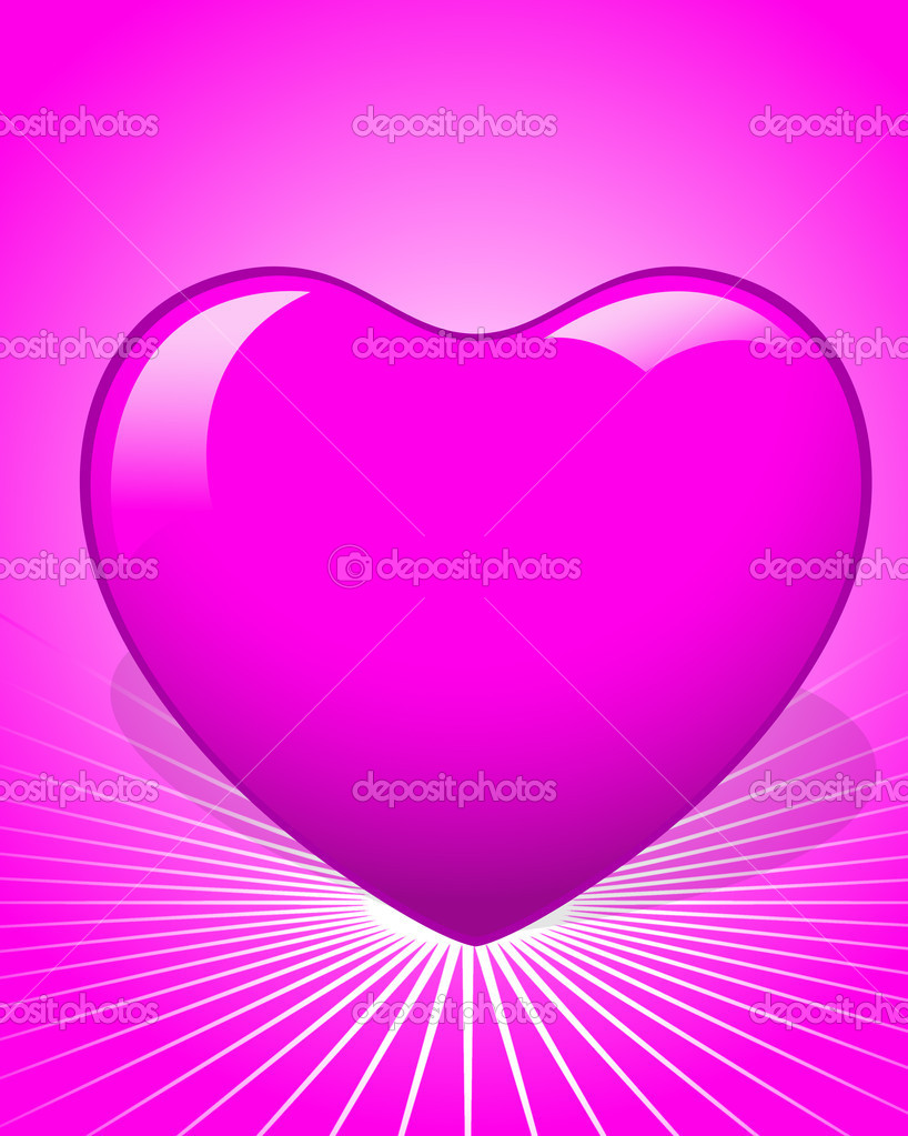 Creative Abstract Decorative Conceptual Design of Vector Pink Heart — Stock Vector #8475899