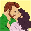 Royalty-Free Stock Vector Image: Retro Couple Kissing