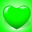 Stock Vector: Green Heart