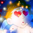 Decorative Cupid Background — 图库矢量图片 #8561271