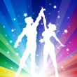 Dancing Couple in Decorative Background — Stock Vector #8561326