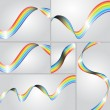 Swirl Rainbow Strips — Stock Vector