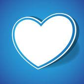 Vector Paper Heart — Stock Vector