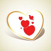 Corazón del reypapier hartsymbool — Stockvector