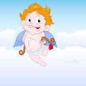 Cupid in the Sky — Stock Vector
