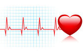 Heartbeat Background — Stock Vector