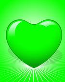 Green Heart — Cтоковый вектор