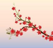 Spring Branch — Stock Vector