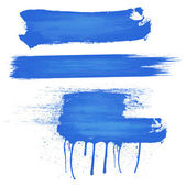 Blue Paint Strokes — Stock Vector