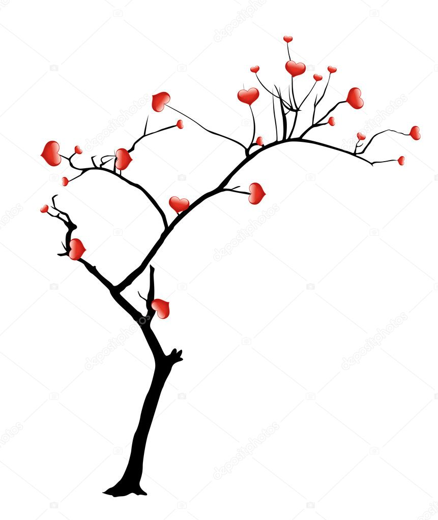 Creative Abstract Conceptual Decor Design of Heart Tree — Stock Vector #8561146