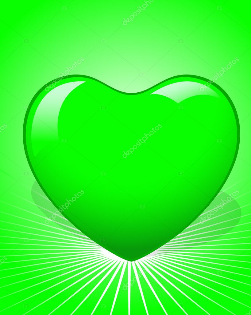 Creative Abstract Decor Design of Green Heart — Stock Vector #8561239