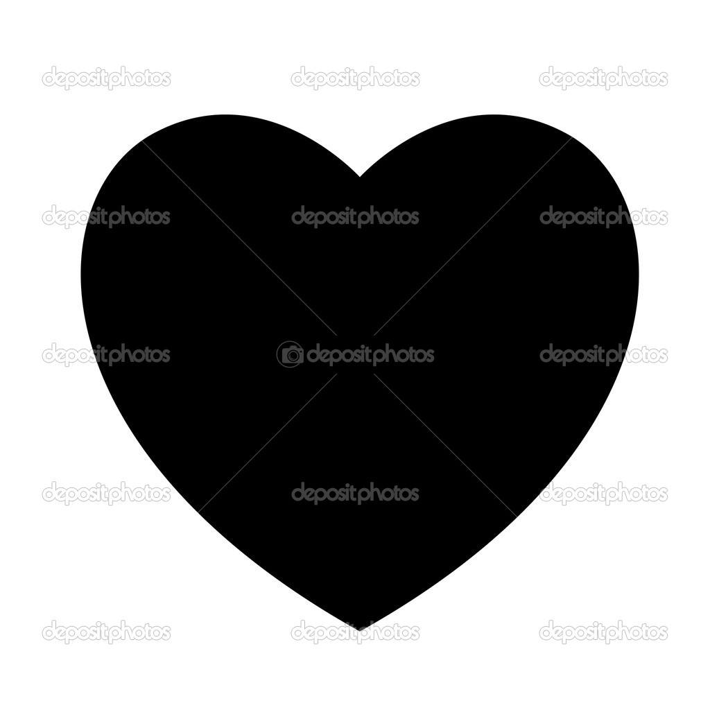 Creative Abstract Decor Design of Black Heart  Stock Vector #8561241