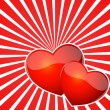 Heart Burst Background - Stock Vector