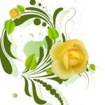 Decorative Vector Rose — Stock Vector
