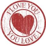 Grunge Vintage Valentine Stamp — Stock Vector #8611372