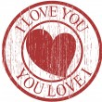Grunge Vintage Valentine Stamp — Stock Vector