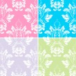 Colorful Vintage Damask Background — Stock Vector