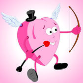 Smiling Heart Cupid — Stock Vector