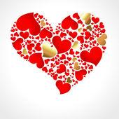 Heart Shape Made from Hearts — Stock Vector
