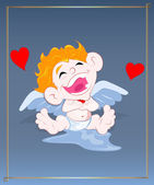 Naughty Cupid Laughing — Stock Vector