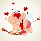 Vector Art of Happy Cupid — Stock Vector
