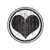 Grunge Black Love Stamp — Wektor stockowy