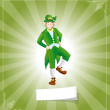 Royalty-Free Stock Vector Image: Irish Leprechaun Retro Background