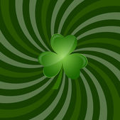 Green Clover Leaf Background — Stock Vector