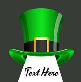 St. Patrick's Day Hat Banner — Vector de stock
