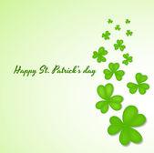 St. Patrick? s день клевер листья фон — Cтоковый вектор