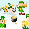 Royalty-Free Stock Vector Image: Funny St. Patrick\'s Day Character Vectors