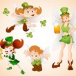 Stock Vector: Patrick's Day Fairies Vectors
