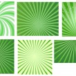 Stock Vector: Patrick's Day Sunbursts