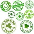 Royalty-Free Stock Vector Image: Patrick\'s Day Stamps