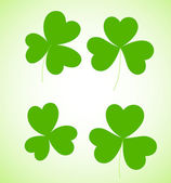 Clover Leaves Shapes — Stockvector